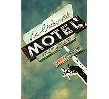La Crescenta Vintage Motel Sign Photographic Print
