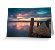 Sunset At The Pier Greeting Card