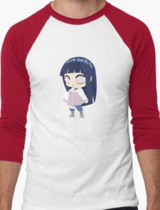 Hinata Hyuuga Chibi Men's Baseball ¾ T-Shirt