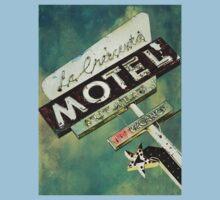 La Crescenta Vintage Motel Sign Kids Tee