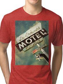 La Crescenta Vintage Motel Sign Tri-blend T-Shirt