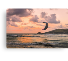 Lone Kite Surfer Metal Print