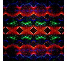 Primitive Textured Shapes Photographic Print
