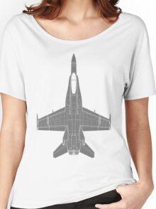 McDonnell Douglas F-18 Hornet Women's Relaxed Fit T-Shirt