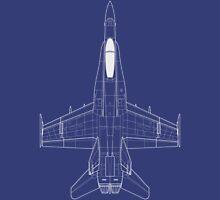 McDonnell Douglas F-18 Hornet Blueprint Unisex T-Shirt