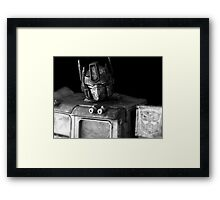 Tough Day In The Office - BW Framed Print