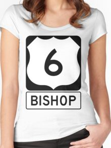 US 6 - Bishop California Women's Fitted Scoop T-Shirt