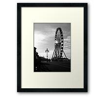 Brighton Wheel Framed Print