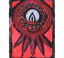 Embracing The Flame #17 - iPhone Case (white border) by jon  cooney