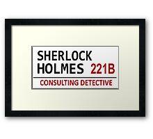 Sherlock Holmes Street Sign Framed Print