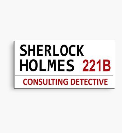 Sherlock Holmes Street Sign Canvas Print