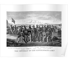 The Generals Of The Confederate Army Poster