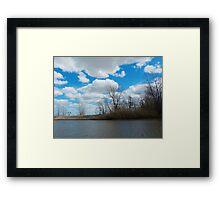 Estuary in Early Spring 3 Framed Print
