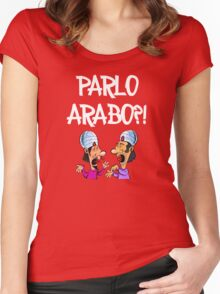 Parlo Arabo???!!!  Women's Fitted Scoop T-Shirt