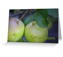Get well soon Twin Apples card Greeting Card