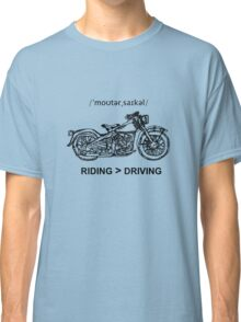 Motorcycle Cruiser Style Illustration Classic T-Shirt