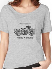 Motorcycle Cruiser Style Illustration Women's Relaxed Fit T-Shirt