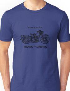 Motorcycle Cruiser Style Illustration Unisex T-Shirt