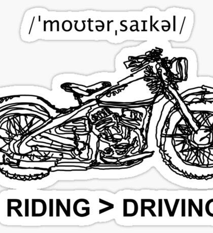 Motorcycle Cruiser Style Illustration Sticker