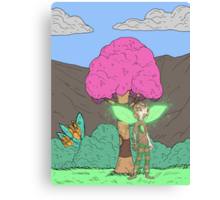 Eight Realms: Tanora the Wood Sprite... Canvas Print