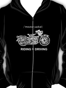Motorcycle Cruiser Style Illustration White Ink T-Shirt