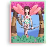 Eight Realms: Michelle the Rose Fairy (aka the Maiden of Raven)...... Canvas Print