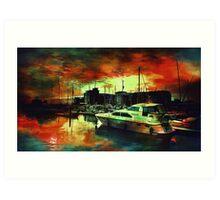 Hull Marina Art Print