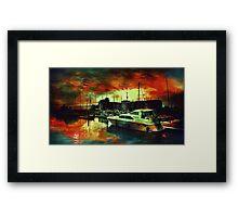 Hull Marina Framed Print