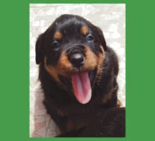 Cute Rottweiler Puppy With Tongue Out Kids Clothes