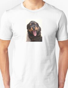 Cute Rottweiler Puppy With Tongue Out T-Shirt