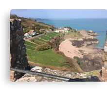 St Catherine's from Gorey Castle, Jersey Metal Print