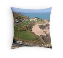St Catherine's from Gorey Castle, Jersey Throw Pillow