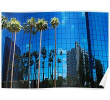 San Diego Reflections in a Blue Sky Poster