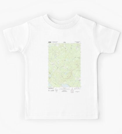 USGS TOPO Map New Hampshire NH Parker Mountain 20120508 TM Kids Tee
