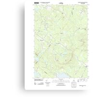 USGS TOPO Map New Hampshire NH Parker Mountain 20120508 TM Canvas Print