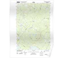 USGS TOPO Map New Hampshire NH Parker Mountain 20120508 TM Poster