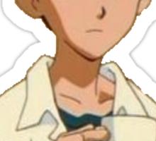 Shinji and his mug Sticker