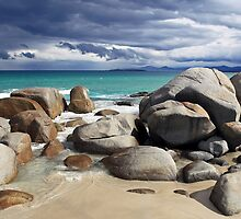 Beach Boulders- Tasmania by Mike Valigore