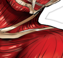 peeking titan Sticker