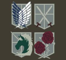 Attack on Titan Crests Pixels by Astrotoast