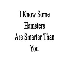 I Know Some Hamsters Are Smarter Than You  Photographic Print
