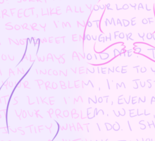 Adventure Time - Bubbline I'm Just Your Problem Sticker