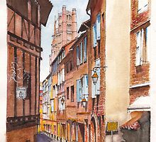 Old Albi the pink city of south west France by Dai Wynn
