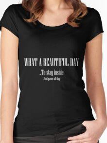 What A Beautiful Day Women's Fitted Scoop T-Shirt