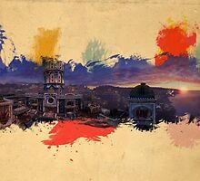 "Uncharted 2 Watercolor ""Museum"" by SuperNinjaAlex"