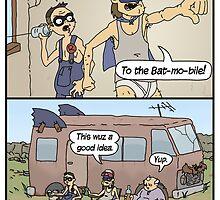 Hillbilly Batman saves the day. by Longburns