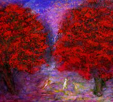 under the red trees by glennbrady