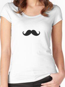 Mustache Ideology Women's Fitted Scoop T-Shirt