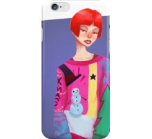 Ugly Sweater Lady iPhone Case/Skin