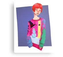 Ugly Sweater Lady Metal Print